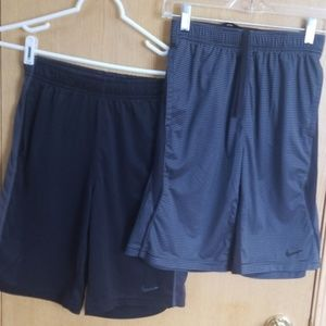 Boys 2 Nike dri-fit shorts ... Large
